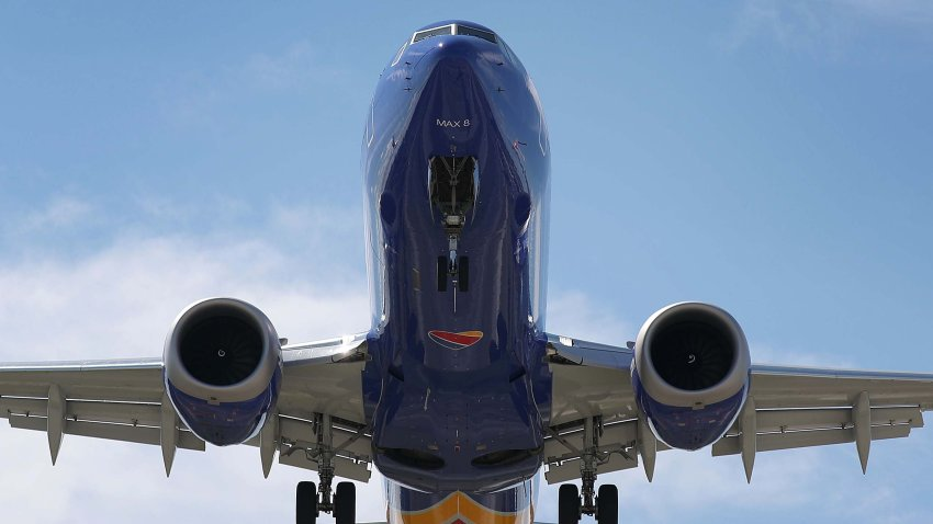 A Southwest Boeing 737 Max 8 enroute from Tampa prepares to land at Fort Lauderdale-Hollywood International Airport on March 11, 2019 in Fort Lauderdale, Florida.