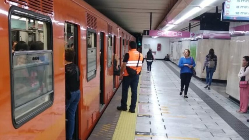 Estación del metro en Ciudad de México.