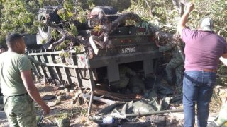 Accidente de militares en Oaxaca