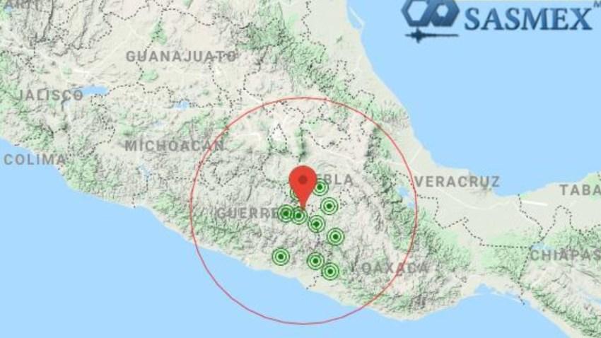 Mapa sismo del 29 de junio en México