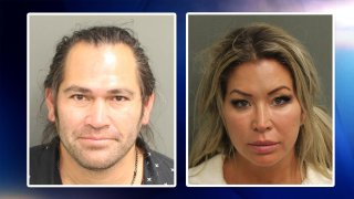 Johnny Damon y Michelle Mangandamon