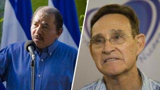 El presidente de Nicaragua, Daniel Ortega y el exministro de educación Humberto Belli
